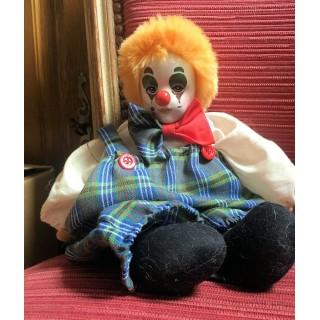 Clown Kopf aus Porzellan am mit Ballast beladenen Körper von 32 cm
