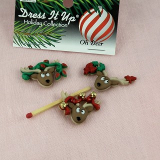 Bouton miniatures Noël Dress it up