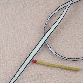 Ruban à bordure grise 6 mm.