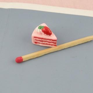 Part de gateau aux fraises