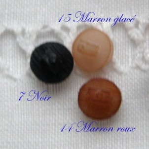 Shank buttons tiny 4 mms
