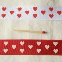 Grosgrain hearts ribbon 2,3cm