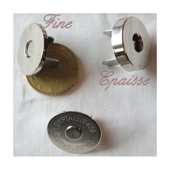 Magnetized pressure magnetic closure 18mm