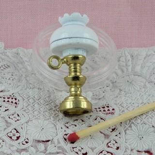 Lámpara de petróleo miniatura casa muñeca 4 cms