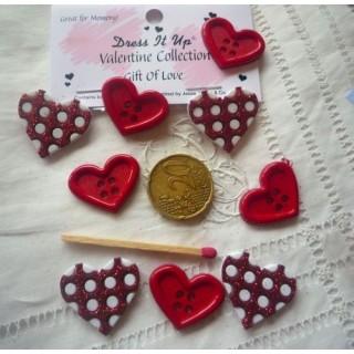 Botón de corazones amor vestir