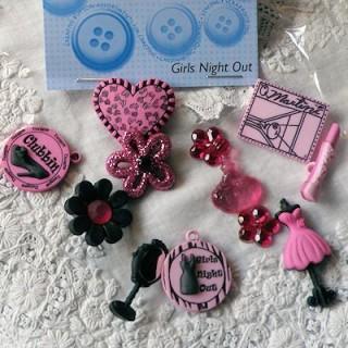 Buttons Girl beauty pink, Dress it up