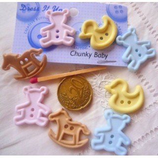 Buttons Dress it up baby toys.