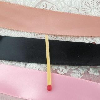 Black Satin ribbon 22mm, 2,2cm