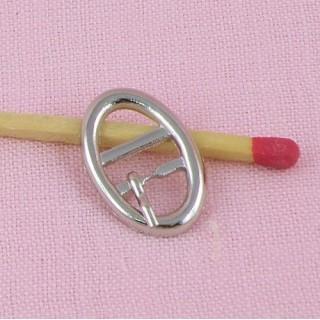 Boucle miniature ceinture ovale 2 cm