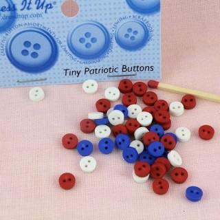 Botones minúsculos redondo 6 mm vestir