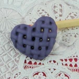 Shank button braided heart 18 mms