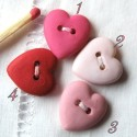 Bouton coeur mat 15 mm