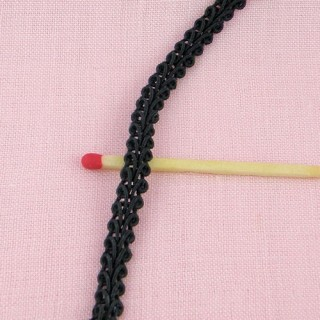 Mini double scroll braid 6 mms.