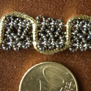 Galon crolle 2 ors, vagues, 1,3 cm, 13 mm.