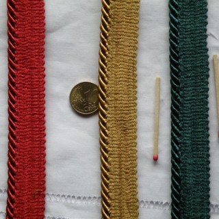 Passepoil Galon rond passementerie 6,5 mm.