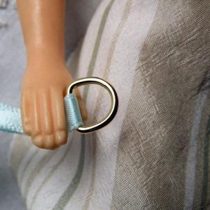 Demi anneau D métal corset 1 cm.