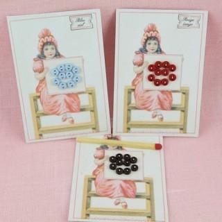 Carte minis boutons plats mats
