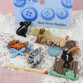 Botones decorativos con formas de gatos Dress it up