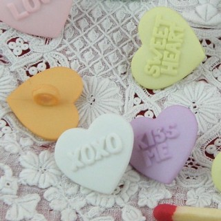 shank Heart baby pastel buttons