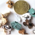 10 animals Buttons small, tiny