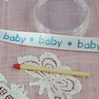Baby printed Satin ribbon 10 mms.