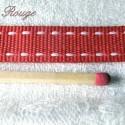 Ruban gros-grain surpiqué 1 cm.