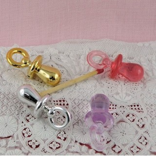 Pacifier for doll, pendant 3 cms