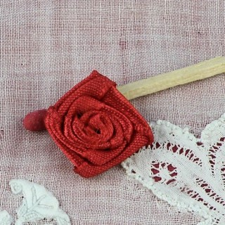 Rosa en Tulle organdí flor que debe coserse 15 mm.,