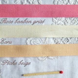 Ruban coton qualité mercerie 15 mm.