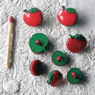 Botón manzana fruta Noel Dress it Up