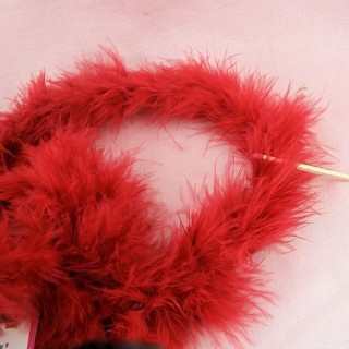 Light feather Boa, tiny for doll, 10 cms