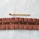 Galon, ruban double plis, ruché, strass, 2,6 cm.