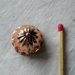 Moule gâteau miniature haut rond en cuivre 18 mm.