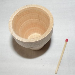 Wooden flower pot miniature unfinished