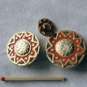 Bouton haute couture métal aztèque