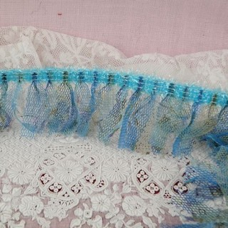 Fringe Tricot stretch trim ribbon 25 mms.