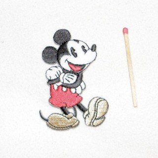 Ecusson broderie Mickey, thermocollante, 6,5 cm.