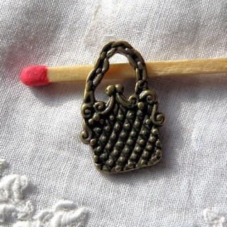 Hand bag Pendant,bracelet charm,19 mms