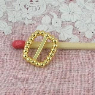 Schleife Miniaturmetall umklammert und Puppenschuhindustrien 12 mm.