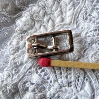 Boucle miniature strass avec ardillon 17 mm.