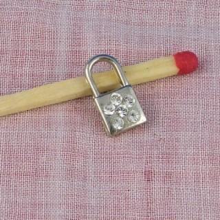 Cadenas miniature, pendentif, breloque, poupée, 2 cm