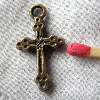 small cross charm for doll 2 cm