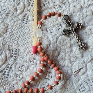 Rosary, jewel doll communicant, nun.