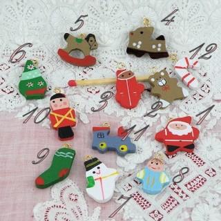 Décoration miniature sapin Noël maison poupée