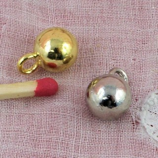 Botón de bola con pie metálico de 8 mm,