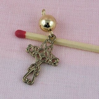 doll miniature jewel cross