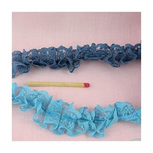 Ribete de Encaja reunido elástico plisada 25 mm