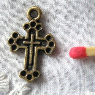 Cross miniature pendant with holes