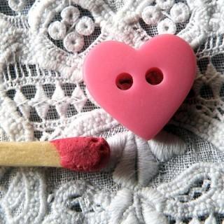 Botones corazón mates 10 mm.