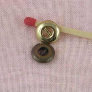 Boutons mercerie métal 2 parties poupée ancienne 9 mm.